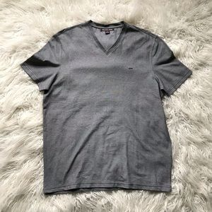 MICHAEL KORS V-Neck Cotton T-Shirt Black White